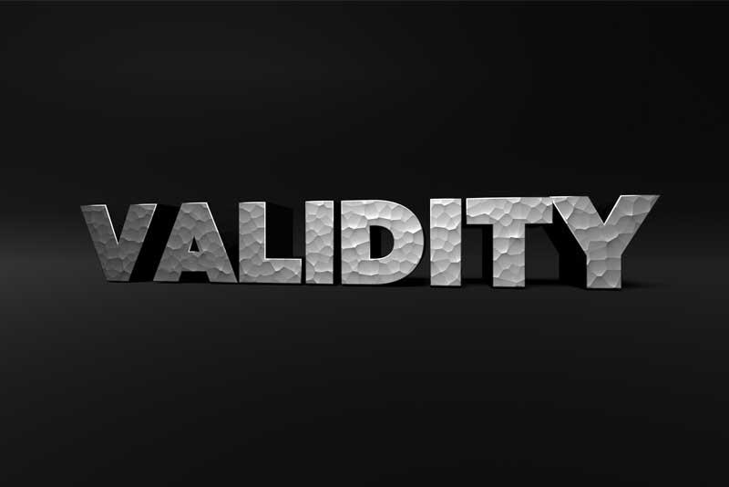 Validity blog